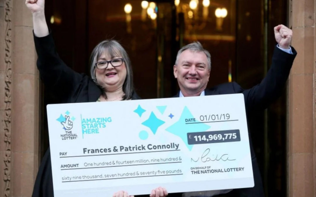 Irish lottery winners have given away half €127m fortune to loved ones, charity and those in need